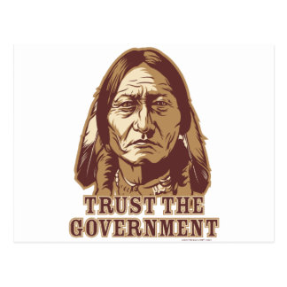 Confíe en al gobierno tarjetas postales