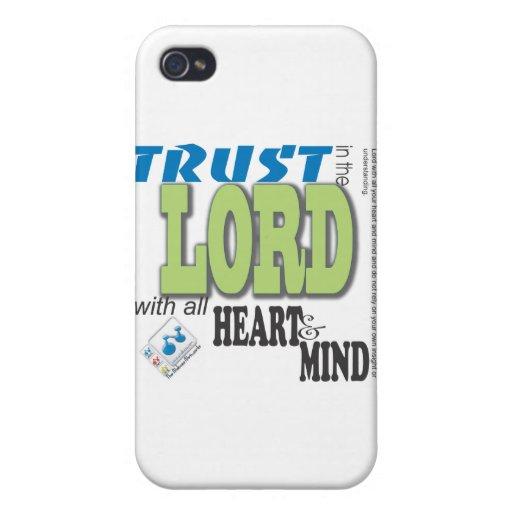 Confíe en en el SEÑOR con todo el corazón y mente iPhone 4/4S Fundas