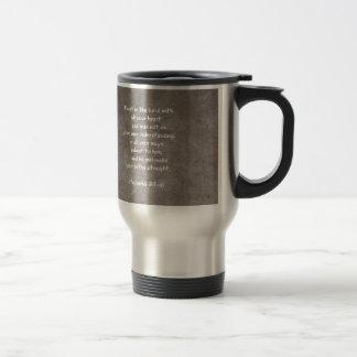 Confíe en en el señor con todos sus proverbios 3 d taza de café