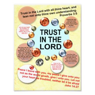 Confíe en en el señor Picture Print al cristiano Fotografías