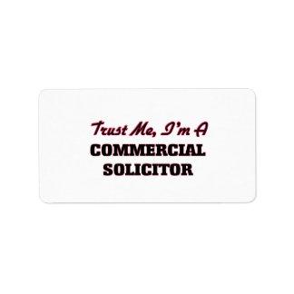 Confíe en que yo es abogado comercial etiquetas de dirección