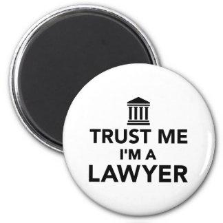 Confíe en que yo es abogado imán redondo 5 cm