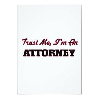 Confíe en que yo es abogado invitaciones personalizada