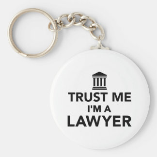 Confíe en que yo es abogado llavero redondo tipo chapa