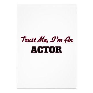 Confíe en que yo es actor comunicados personales