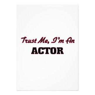 Confíe en que yo es actor invitación personalizada