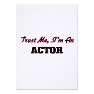 Confíe en que yo es actor invitaciones personalizada
