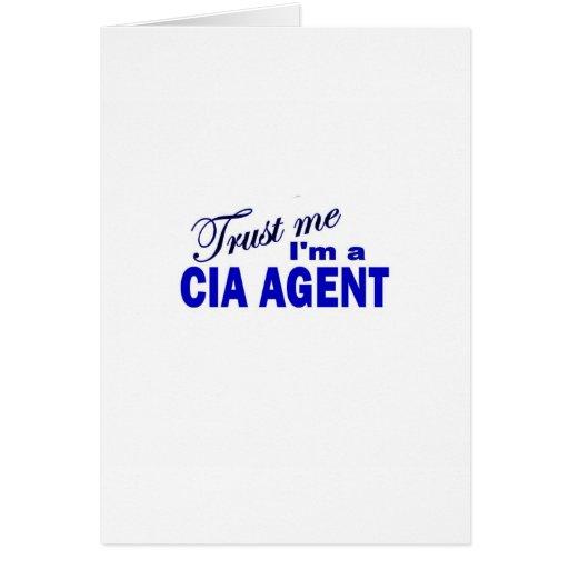 Confíe en que yo es agente de la CIA Tarjetas