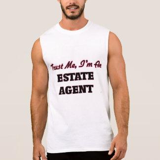 Confíe en que yo es agente de la propiedad camisetas sin mangas
