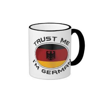 Confíe en que yo es alemán taza de café