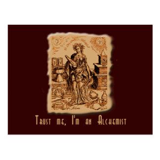 ¡Confíe en que yo es alquimista! Postal