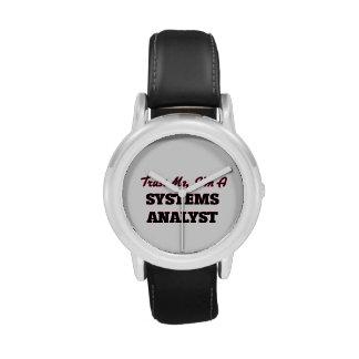 Confíe en que yo es analista de sistemas relojes de pulsera