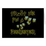 Confíe en que yo es apicultor tarjetas