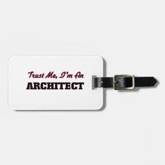 Confíe en que yo es arquitecto etiquetas bolsas
