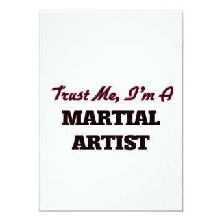Confíe en que yo es artista marcial invitación 12,7 x 17,8 cm