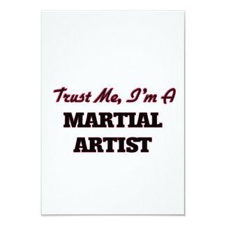 Confíe en que yo es artista marcial invitación 8,9 x 12,7 cm