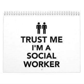 Confíe en que yo es asistente social calendarios