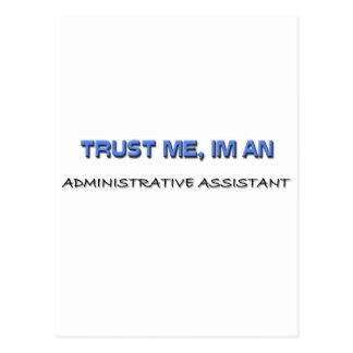 Confíe en que yo es ayudante administrativo postal