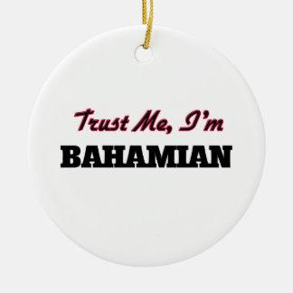 Confíe en que yo es bahamés ornamento para arbol de navidad