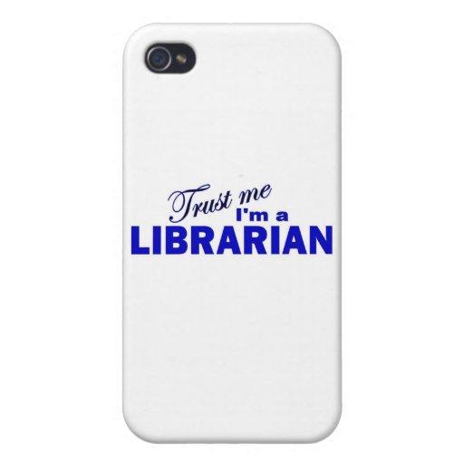 Confíe en que yo es bibliotecario iPhone 4 carcasa