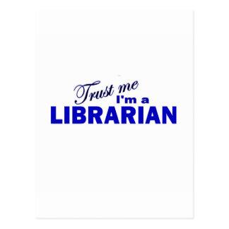 Confíe en que yo es bibliotecario postales