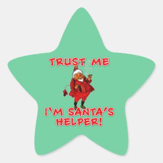 Confíe en que yo es camiseta divertida del pegatina en forma de estrella