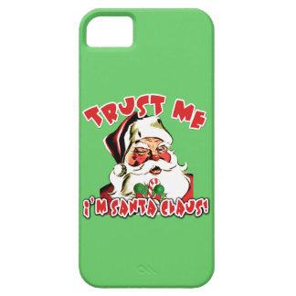 Confíe en que yo es camisetas de Papá Noel iPhone 5 Fundas