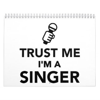 Confíe en que yo es cantante calendarios