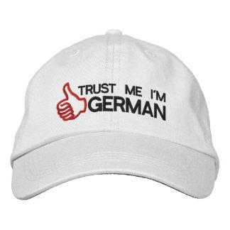 Confíe en que yo es casquillo bordado alemán gorras bordadas