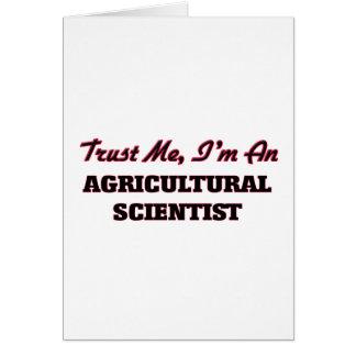 Confíe en que yo es científico agrícola felicitacion