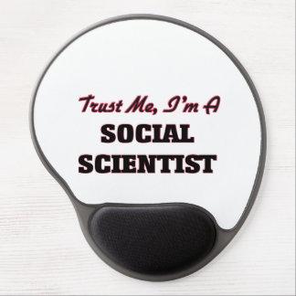 Confíe en que yo es científico social alfombrilla de raton con gel
