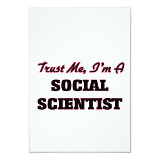 Confíe en que yo es científico social invitación 8,9 x 12,7 cm