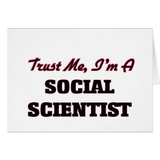 Confíe en que yo es científico social tarjetón