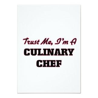 """Confíe en que yo es cocinero culinario invitación 5"""" x 7"""""""