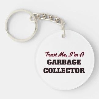 Confíe en que yo es colector de basura llavero