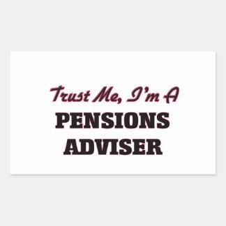 Confíe en que yo es consejero de las pensiones rectangular altavoz