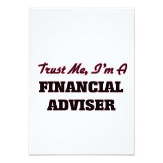 Confíe en que yo es consejero financiero invitación 12,7 x 17,8 cm