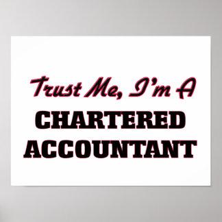 Confíe en que yo es contable poster