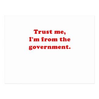 Confíe en que yo es del gobierno postales