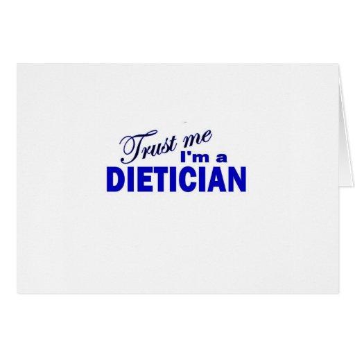 Confíe en que yo es dietético felicitacion