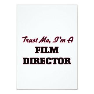 Confíe en que yo es director de cine invitación 12,7 x 17,8 cm