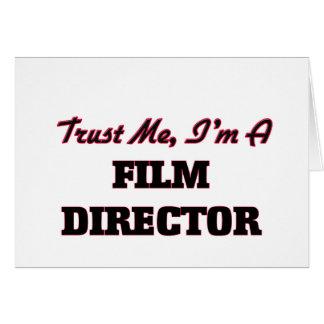 Confíe en que yo es director de cine tarjetas