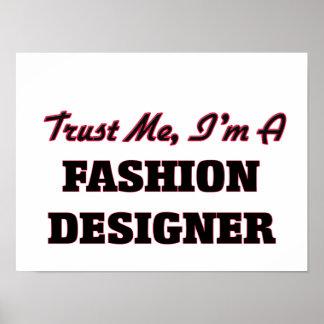 Confíe en que yo es diseñador de moda impresiones