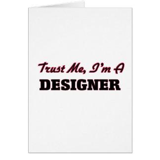 Confíe en que yo es diseñador tarjeton