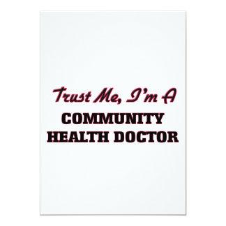 Confíe en que yo es doctor de la salud de la invitación 12,7 x 17,8 cm