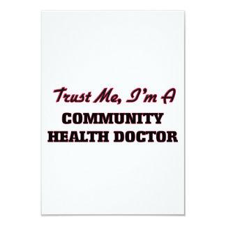 Confíe en que yo es doctor de la salud de la invitación 8,9 x 12,7 cm