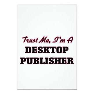 """Confíe en que yo es editor de escritorio invitación 3.5"""" x 5"""""""