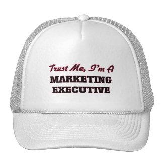 Confíe en que yo es ejecutivo de marketing gorra