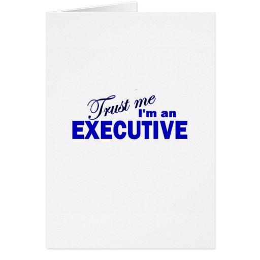 Confíe en que yo es ejecutivo felicitacion