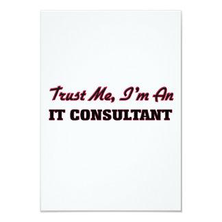 """Confíe en que yo es él consultor invitación 3.5"""" x 5"""""""